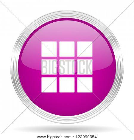thumbnails grid pink modern web design glossy circle icon