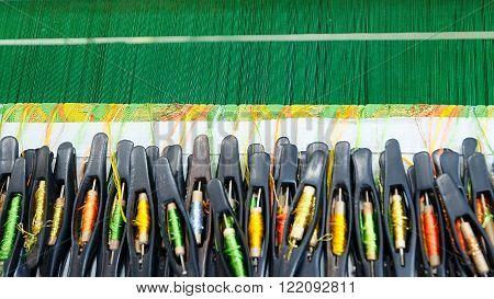 Accessories for loom weavers in Myanmar (Burma)