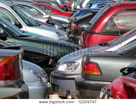 Overcrowded car parking