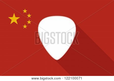 China Long Shadow Flag With A Plectrum