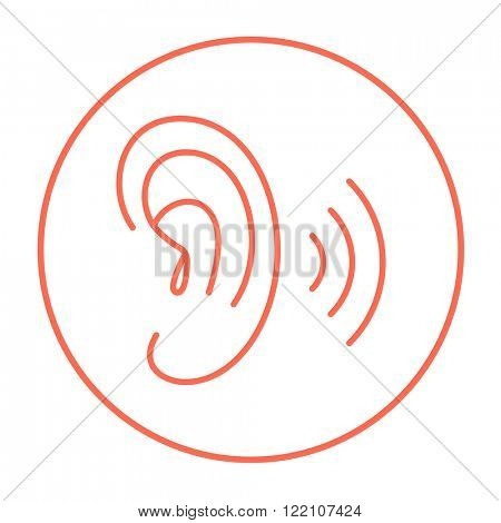 Human ear line icon.