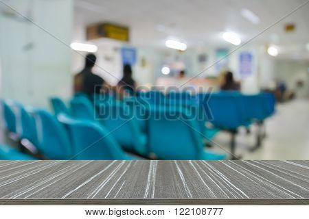 Patient Waiting For Doctor In Hospital
