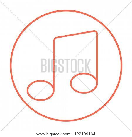 Music note line icon.