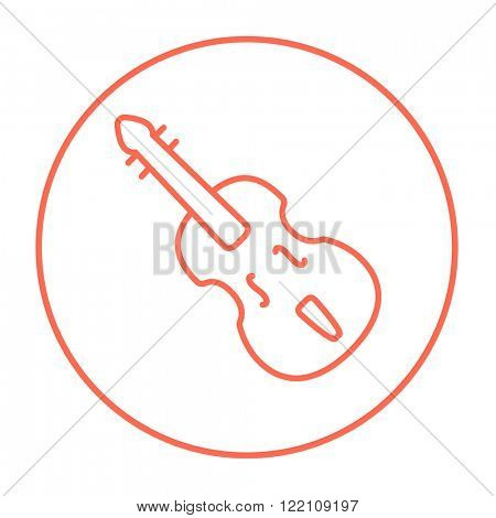 Cello line icon.
