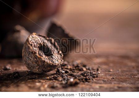 Pu-erh Tea Leaves