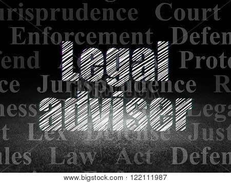 Law concept: Legal Adviser in grunge dark room