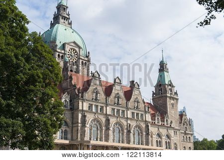 City hall in Hanover at summer day Germany