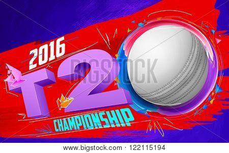 illustration of cricket ball for T20 Cricket Championship