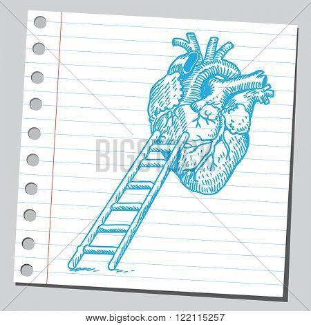 Heart and ladders