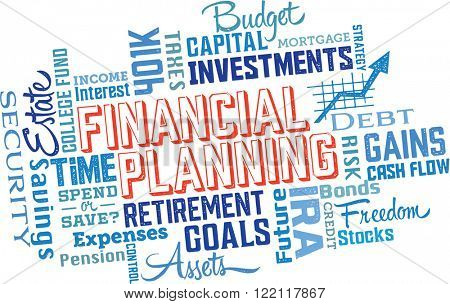Financial Planning Services Word Cloud Collage