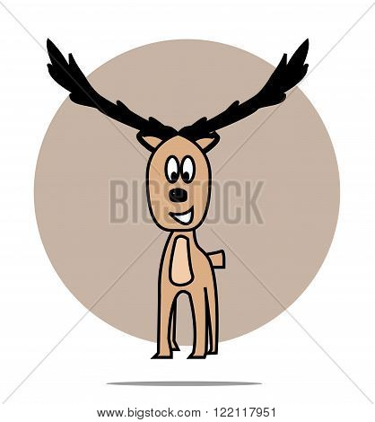 Illustration of a deer with circle background