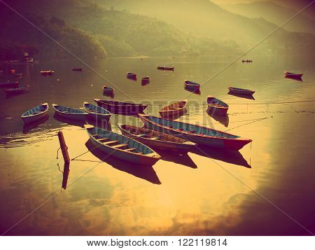 View Of The Lake In Pokhara
