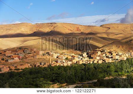 Boumalne Dades city near to Gorges de Dades, Morocco