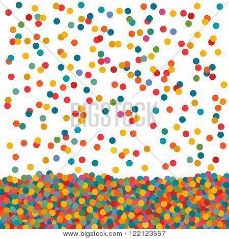 Soviet Round Confetti Small Circles Ball Colored Falling
