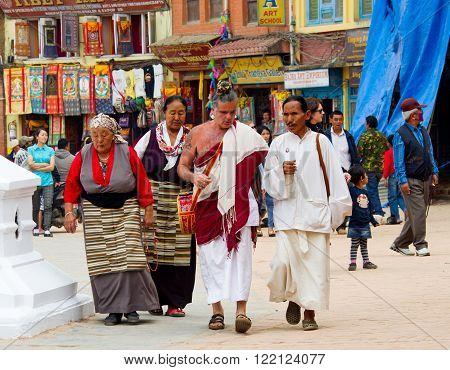 Tibetan Pilgrims In Nepal.