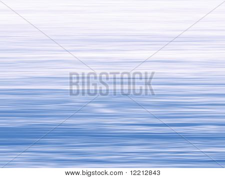 Abstract blue horizontal stripe fading to white at top