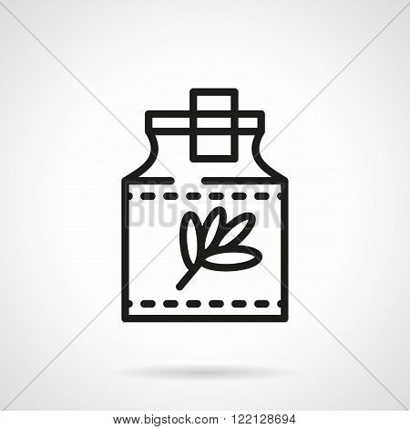 Herbal tincture black line vector icon