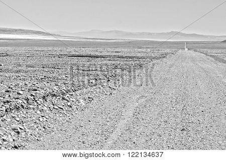 Desert road in the Desert of Atacama