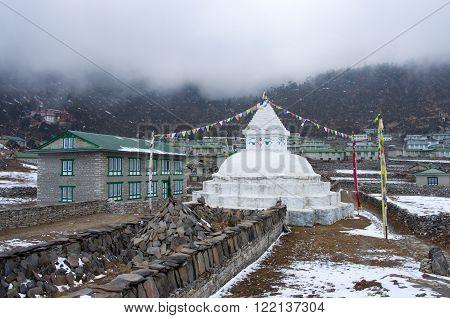 Buddhist Stupa In Khunde, Everest Region, Nepal