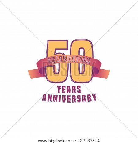 Vector design for fifty years anniversary celebration