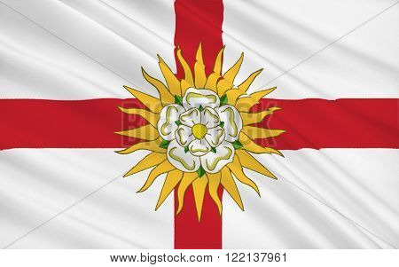 Flag of West Yorkshire is a metropolitan county in England. It is located in the region of Yorkshire and the Humber