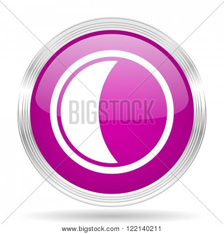 moon pink modern web design glossy circle icon