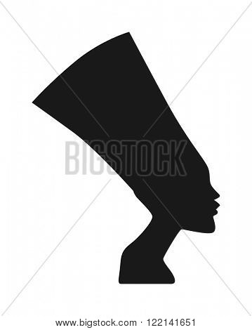 Sphinx head vector traditional symbols of Egypt - Sphinx black silhouette head. Icons of Sphinx head. Sphinx head isolated on white background. Pyramid of Sphinx head.