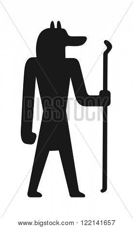 Egypt people vector Illustration of Egypt people zodiac sign Aquarius, a man in color. Egypt people isolated on white background. Traditional symbols of Egypt people