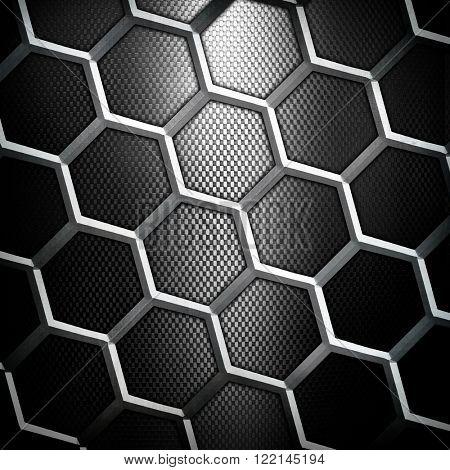 cellular black metal background