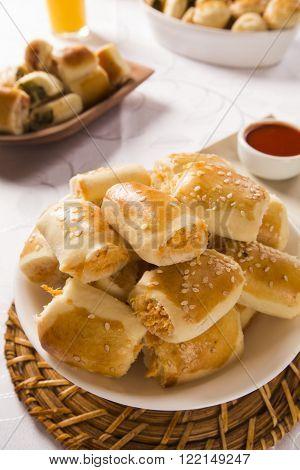Brazilian Snack. Chicken Snacks Portion.