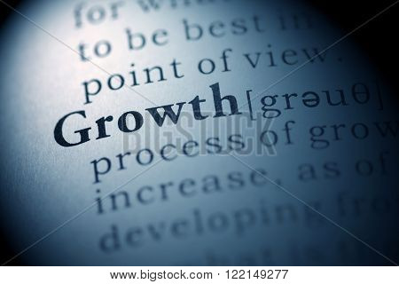 Fake dictionary, definition of the word Growth