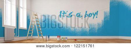 Renovierung von einem Kinderzimmer mit dem Text