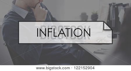 Inflation Recession Stock Market Banking Concept
