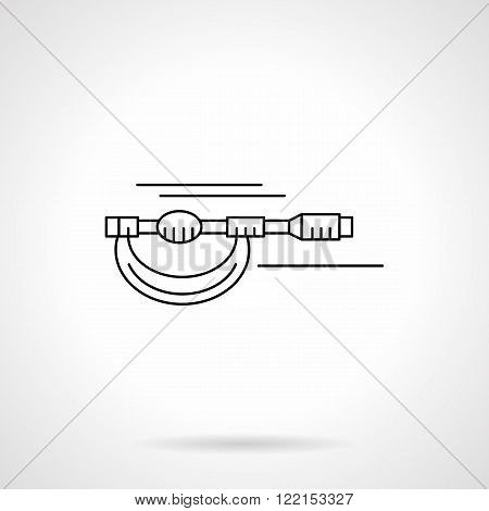 Micrometer flat thin line vector icon