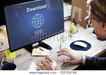 Download Online Internet Technology Network World Concept
