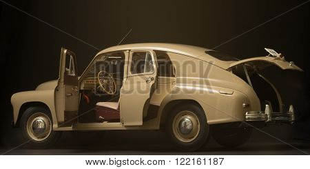 St. Petersburg Russia 7 October 2015 Soviet retro car Gaz M 20 Victory 1946