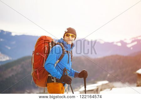 A Traveler With A Backpack.