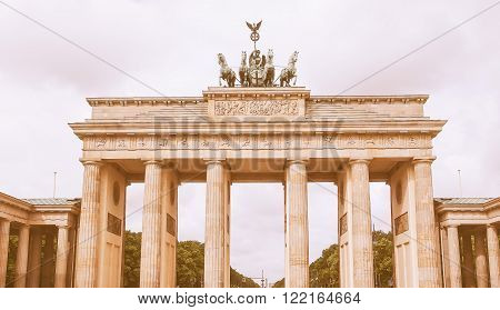 Brandenburger Tor In Berlin Vintage