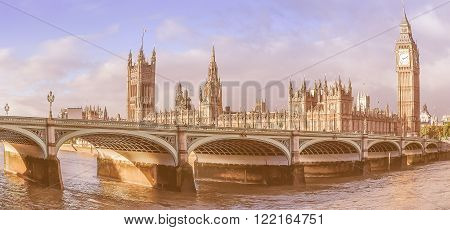 Fisheye View Of Westminster Bridge Vintage
