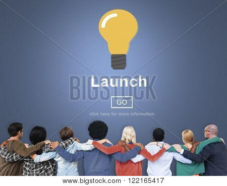 Launch Start Brand Introduce Light Bulb Concept