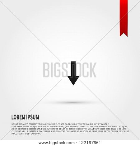 Download icon vector. Download icon JPEG. Vector illustration design element. Flat style design icon.
