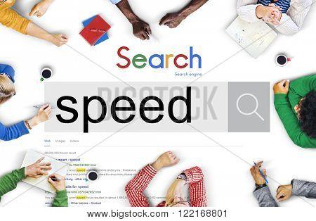 Speed Rush Rapidity Velocity Momentum Concept