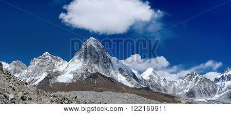 Himalayas Mt. Pumori (Pumo Ri). Everest region, Nepal