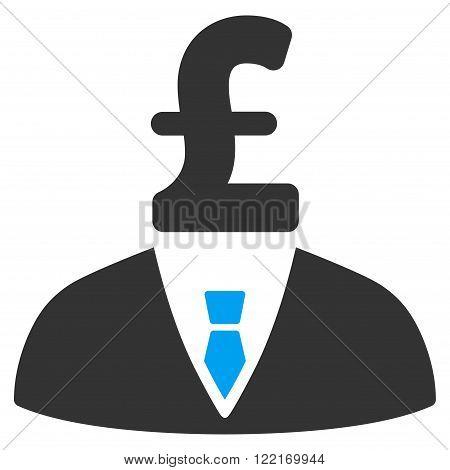 Pound Businessman vector icon. Pound Businessman icon symbol.