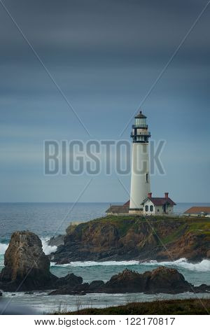 Pidgeon Point Lighthouse in California.