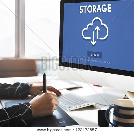 Storage Big Data Backup Computing Information Concept