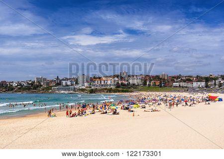 Bondi Beach in the suburbs of Sydney Australia