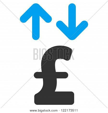 Pound Transactions vector icon. Flat pound transactions icon.