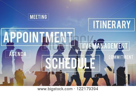 Business People Appointment Schedule Concept