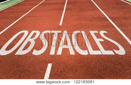 Obstacles written on running track